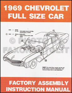 Bound 1969 Chevy Assembly Manual 69 Impala Caprice Bel Air ...
