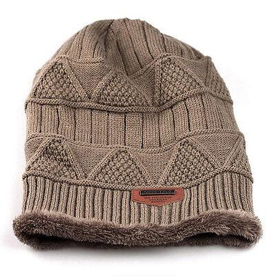 Mens Knit Beanie Winter Warm Baggy Hat Crochet Ski Unisex Womens Slouch Cap New