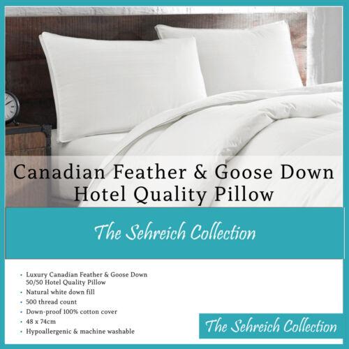 De Luxe en plumes d/'oie Et Duvet Oreillers Hôtel Confortable canadiennes de qualité Oreiller
