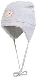 STEIFF® Fleece Binde-Mütze Zipfelmütze Grau Mädchen Junge Gr 41-55 Basic NEU!