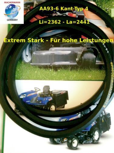 Keilriemen AA 93,Doppelkeilriemen Mähwerk,MTD 754-0470 A,MTD 954-0470, Nr.133