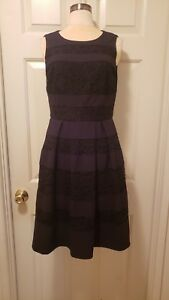Donna Morgan Black Pleated Dress Sz 6 Ebay