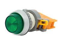 Pln-22a Ati Green Led Pilot Indicator Light 22mm 120v Ac/dc Replaceable Lamp