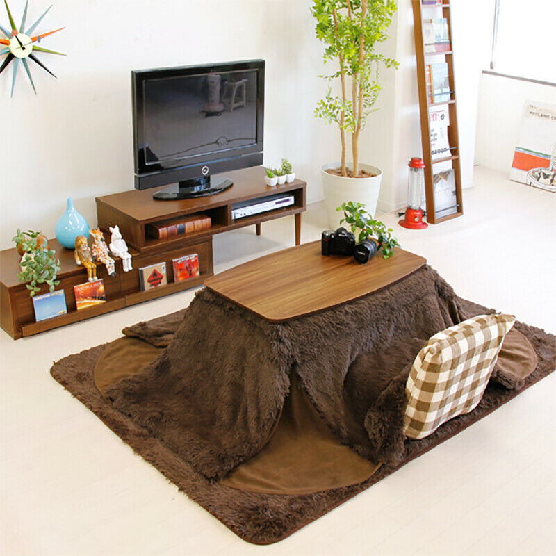 KOTATSU Table Wooden Folding Japanese Style Electric Heater ELFE-901WAL  Azumaya
