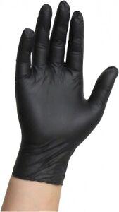 Unigloves Powder Black Latex or Nitrile Gloves - Tattoo Mechanic Boxed X100 Nitrile Medium 1000