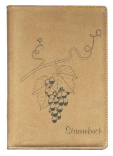 Stammbuch A5 Familienbuch Hochzeitsbuch Beige Büffelleder Natur Wein Reben