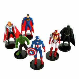 Avengers-Hero-Captain-America-Hulk-Batman-Iron-Man-Superman-Raytheon-Figure-Toys
