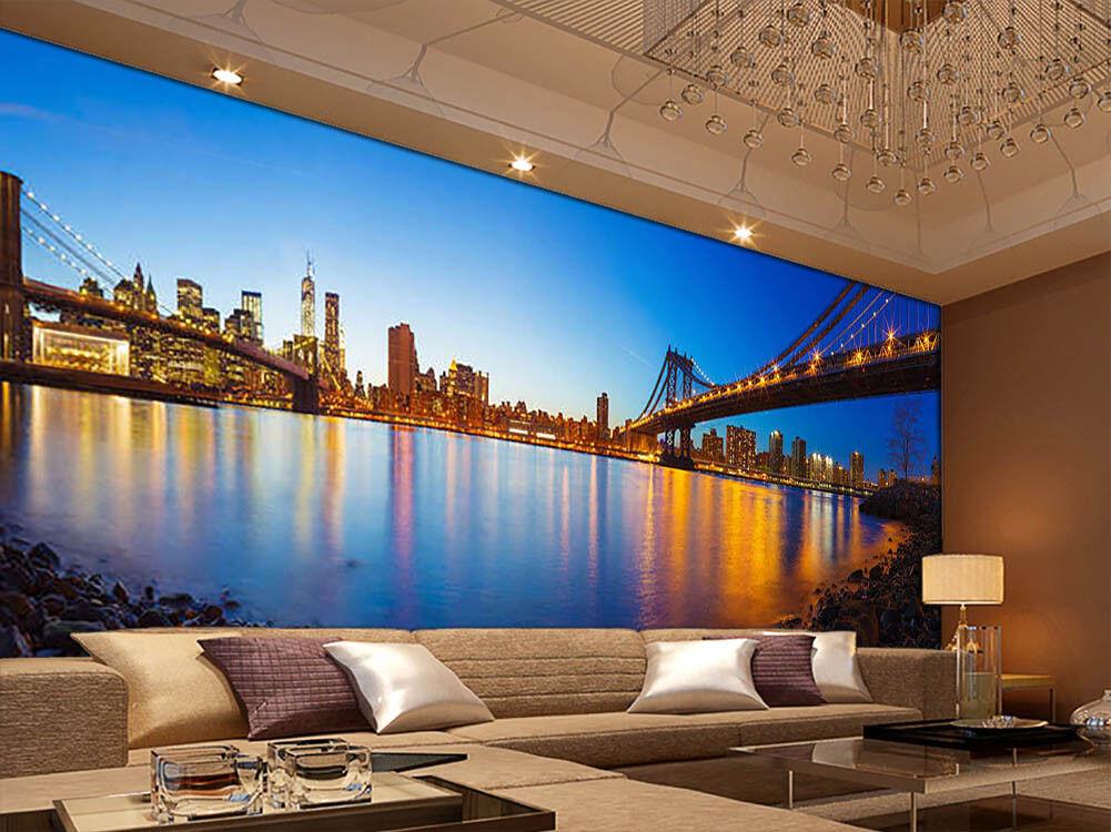 Bridge Of Noctilucent 3D Full Wall Mural Photo Wallpaper Print Home Kids Decor