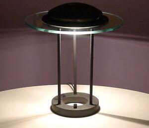 sonneman memphis era vintage bankers lamp postmodern 1980s halogen glass ufo ebay. Black Bedroom Furniture Sets. Home Design Ideas