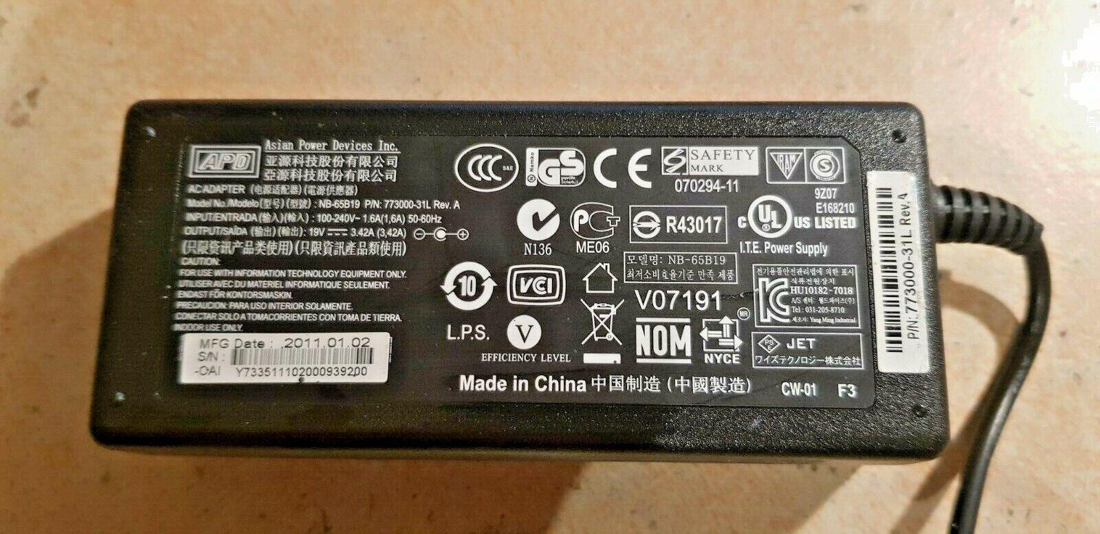 Power Adaptor APD NB-65B19 19v 3.42a