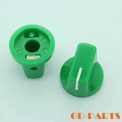 Generic GREEN Plastic set pointer knob for Guitar BASS effect pedal stomp box*10