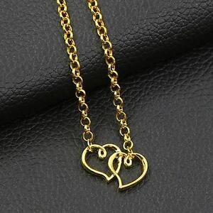 Details about Women's Girl's Two Hearts Gold Ankle Bracelet Anklet Twin  Flame Love Tattoo
