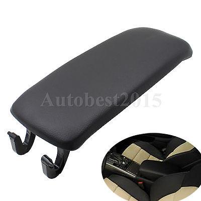 Black Arm Rest Cover Center Console Armrest Lid For AUDI A4 S4 A6 Allroad 00-06