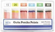 Meta Gutta Percha Points 35 Iso Sized Vial Box Of 120 Dental