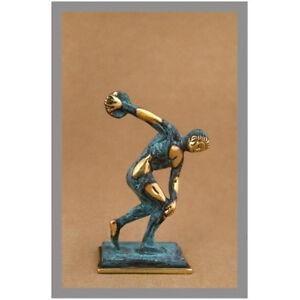 Antiquities Ancient Greek Bronze Museum Statue Replica Of Discus Thrower Of Myron Olympics Comfortable Feel
