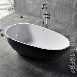 Freistehende Badewanne VELA Mineralguss Solid Stone - Farbe und ...