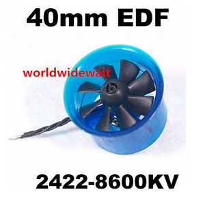 Details about New HL4008 2422 8600KV Motor EDF 40mm Ducted Fan for RC  Aircraft Airplane