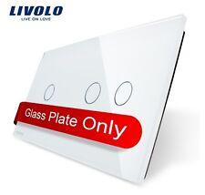 Original Livolo 2 Fach Glasabdeckung für Touch Lichtschalter Taster Weiß 1G + 2G