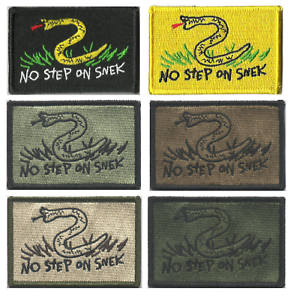 BuckUp-Tactical-Morale-Patch-Hook-NO-STEP-ON-SNEK-2-034-X3-034-Tactical-Patches