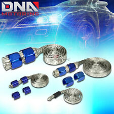 BRAIDED HOSE(STAINLESS STEEL) BLUE ENGINE DRESS UP KIT RADIATOR/VACUUM/FUEL/OIL