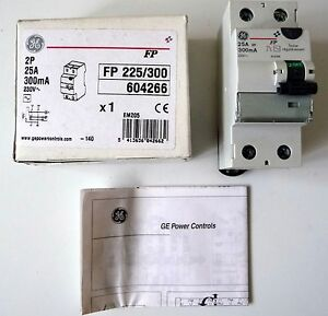 1-Interrupteur-differentiel-2x25a-300ma-GENERAL-ELECTRIC-604266-NEUF