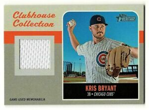 Kris-Bryant-2019-Topps-Heritage-Clubhouse-Collection-Jersey-Card-Chicago-Cubs