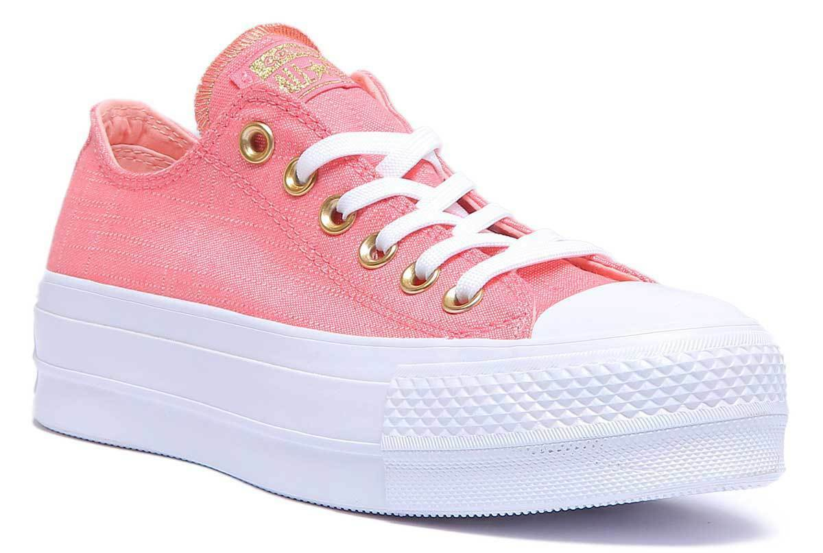 Converse Chuck Taylor All Star Ox Lift Platform Women Canvas Pink White Platform