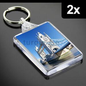 2x-maxima-calidad-acrilico-transparente-en-Blanco-Foto-LLAVERO-MANDOS-x-50-35-mm