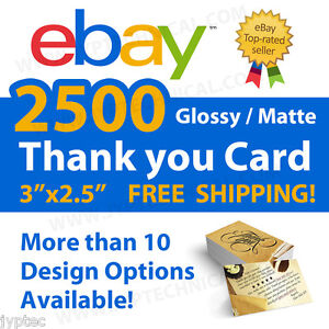 2500-eBay-Seller-Professional-Thank-You-Business-Cards-FREE-SHIPPING