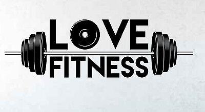 Fitness centre weight lifting gym weights wall sticker art decor w184
