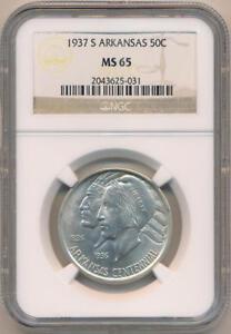 1937-S-Arkansas-Commemorative-Half-Dollar-NGC-MS65