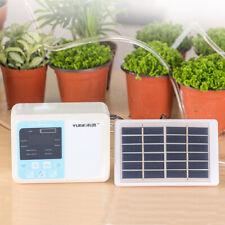 Solar Powered Auto Drip Irrigation System Garden Sprinkler Self Watering Sprayer