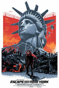 ESCAPE FROM NEW YORK A4A3,A2,A1 Vintage Movie Film Poster Home Wall Print