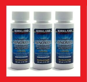 Kirkland Minoxidil 5% Extra Strength Men Hair Regrowth Solution 3 Months Supply