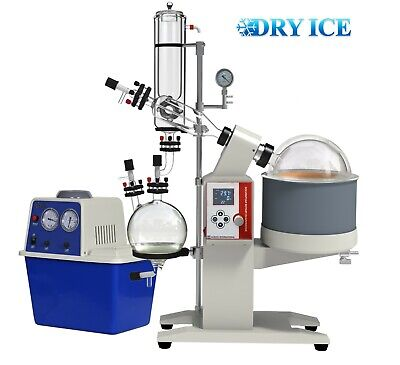Pack of 2 Across International SE13c-S2 SolventVap 5 L Rotary Evaporator with Cold Trap Condenser and Chemical Resistant Vacuum Pump WaterVac 0.7 CFM