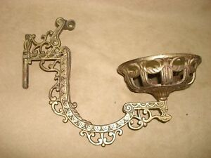 Antique Victorian Ornate Cast Iron Swing Arm Wall Mount