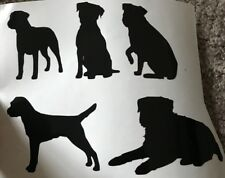 X5 Border Terrier Glass Craft Etched Vinyl Sticker Silhouette Disney Decal Dog