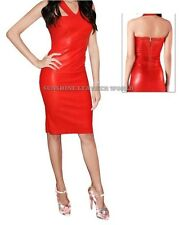 Spring Designer Lamb New Leather Women Dress Cocktail Stylish Party Wear  D-096