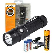 Fenix RC11 1000 Lumens USB Rechargeable LED Flashlight w/ 1x18650 & 2xCR123As