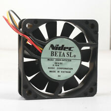 Nidec 24V 0.12A 6CM fan D06R-24TH 22B 3Pin 60*60*15mm
