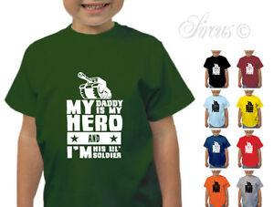 f2263088459 MY DADDY IS A HERO DESIGNER ARMY T-SHIRT BOYS TSHIRT KIDS CHILDRENS ...