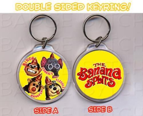 BANANA SPLITS round keyring  DOUBLE SIDED Classic!