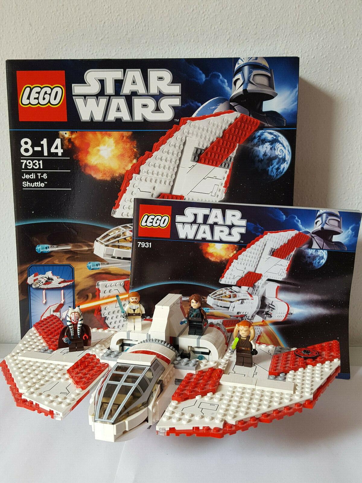 LEGO Star Wars 7931 Jedi T-6 Shuttle in OVP und BA vollständig