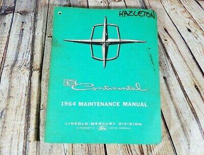 1964 Lincoln Continental Maintenance Shop Service Manual ...