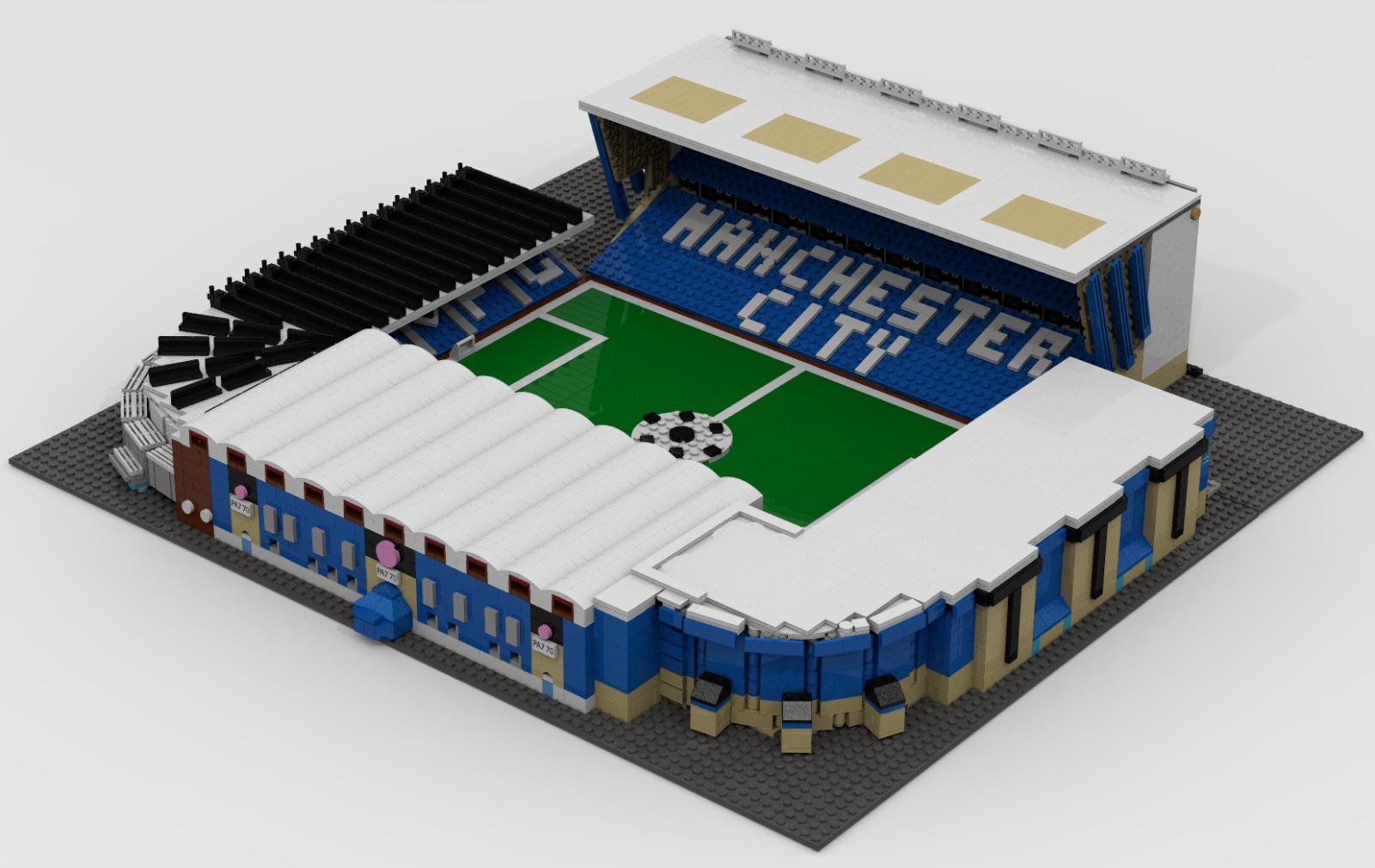 CUSTOM CUSTOM CUSTOM LEGO BUILDING. Maine Road Stadium. Manchester City Football Club. Premier 1c4735