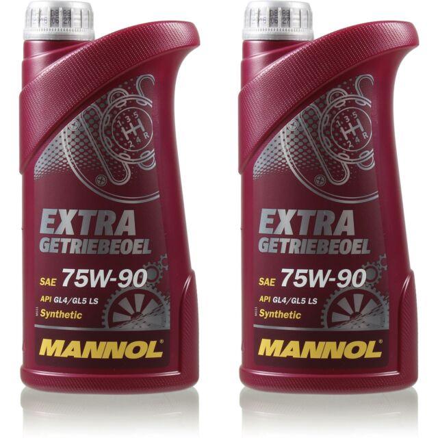 2L Original MANNOL Extra Huile de Transmission 75W-90 Api Gi 4 / Gl 5 Ls