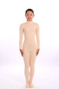 Kid Adult Open Face Out Nude Unisex Lycra Spandex Zentai costume Bodysuit