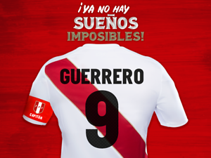 d16edc67ca6 Image is loading New-Umbro-Peru-Official-Paolo-Guerrero-Authentic-Jersey-