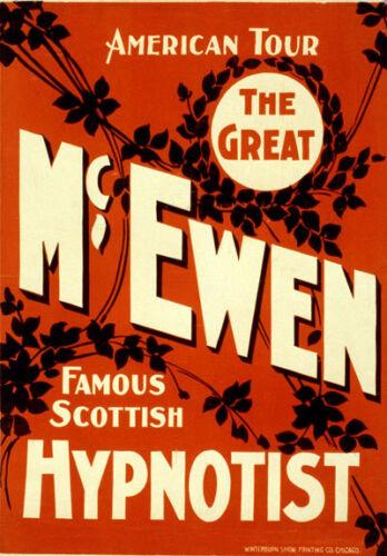 M54 Vintage McEwen Scottish Hypnotist Theatre Poster A1 A2 A3