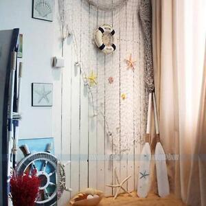 fischernetz beige blau dicke baumwolle deko netz